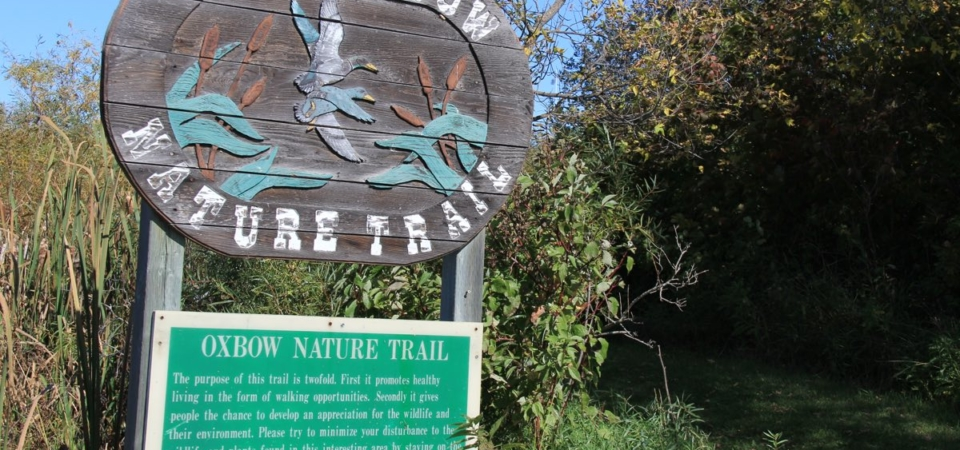 Oxbow Trail Head Sign