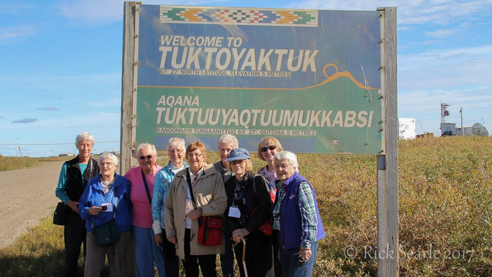 Guests at Tuktoyaktuk