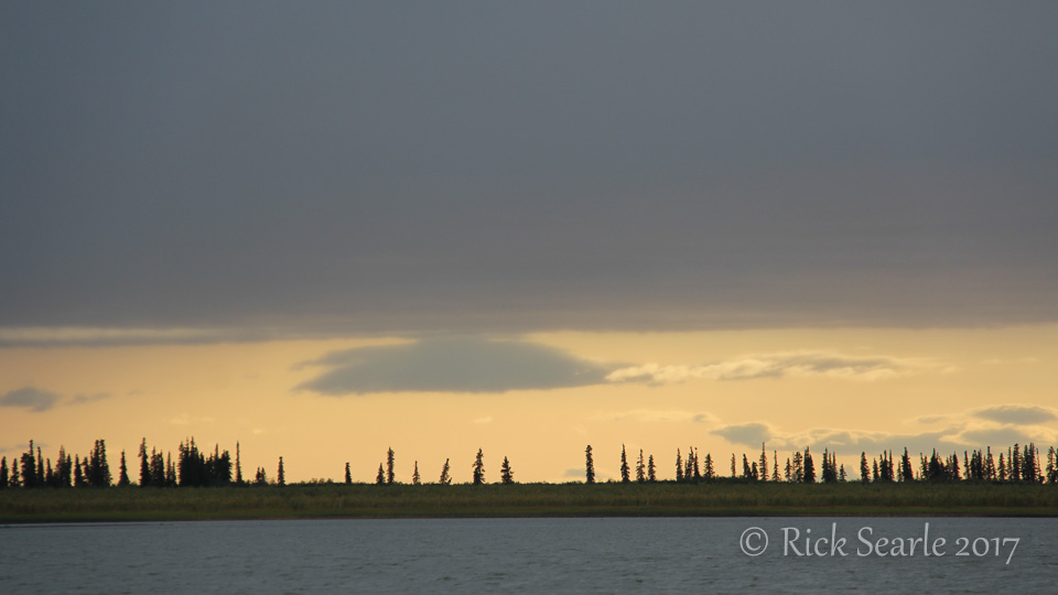 Sunset on the Mackenzie