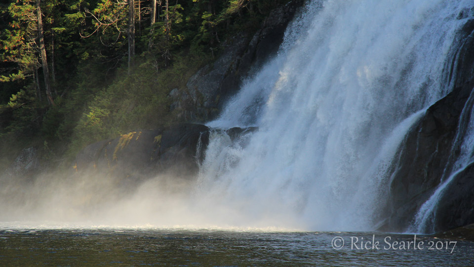 Waterfalls in early morning light