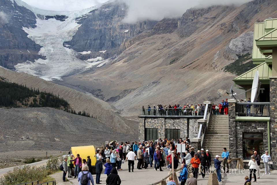Crowds at Icefields Discovery Centre Jasper National Park