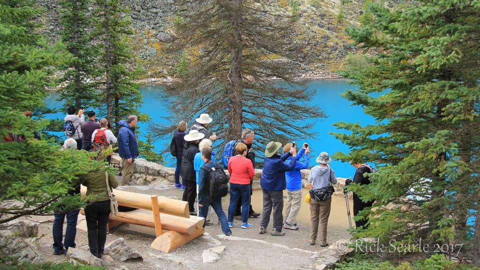 Tourists at Moraine Lake