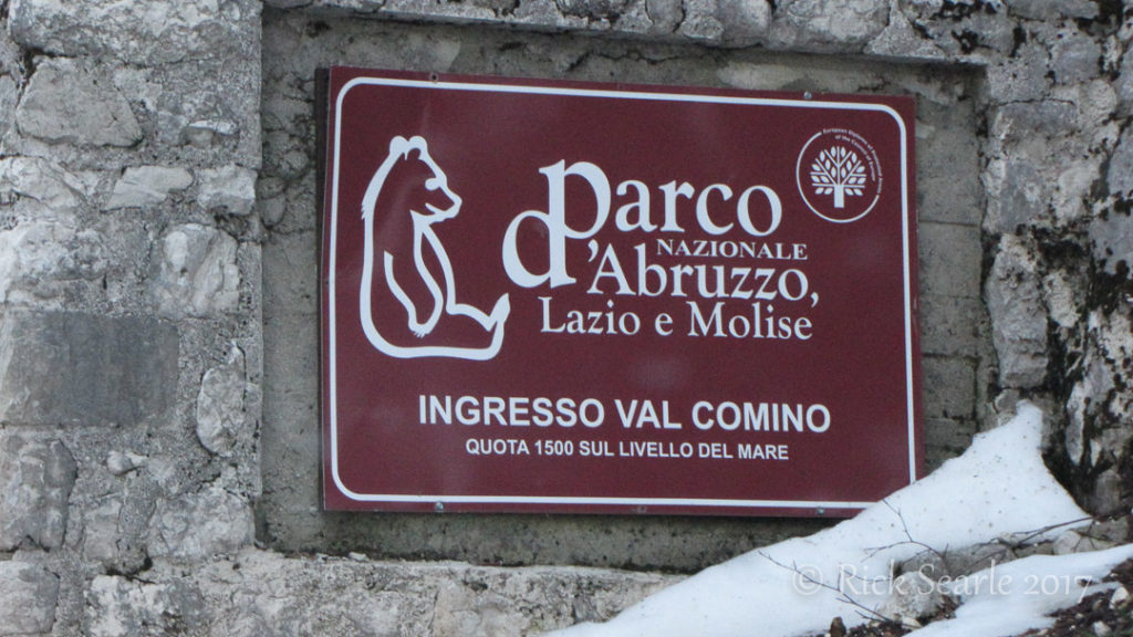 Abruzzo NP Sign