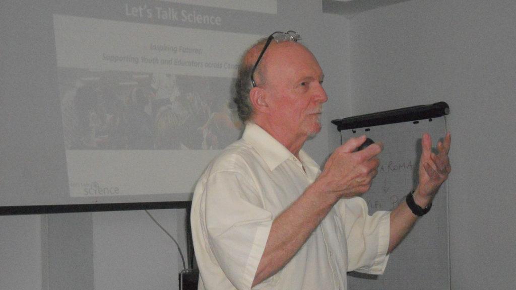 Rick Searle Giving His Presentation at EU Ocean Literacy Workshop