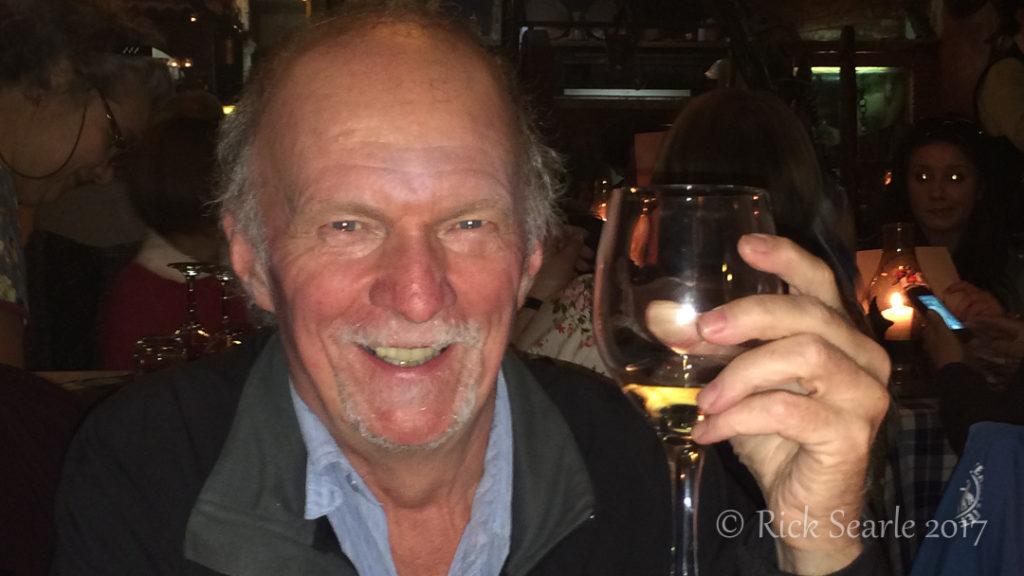 Rick Enjoying a Glass of Fine Italian Wine