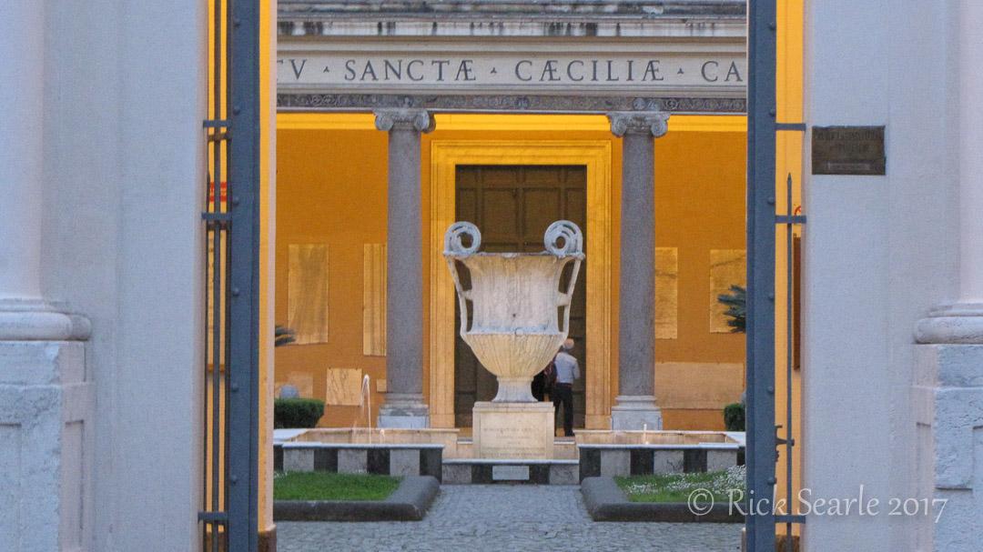 Scene through doorway, Rome, Italy