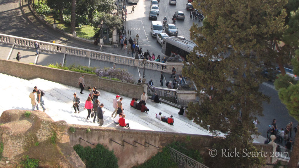 Stairs at Altare della Patria, Rome, Italy