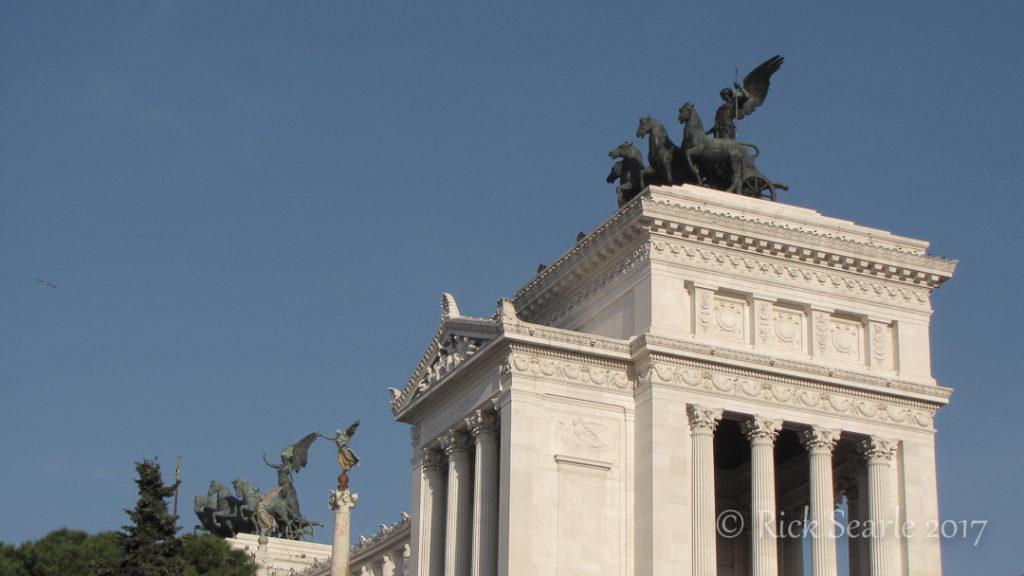 Statue atop of Altare della Patria, Rome, Italy