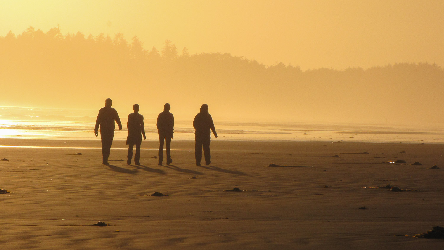 Walking the Beach at Sunset, Pacific Rim NP
