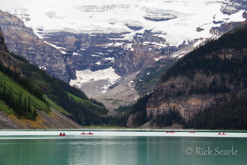 Canoeists Lake Louise