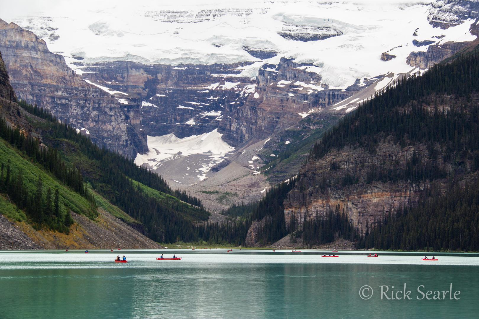 Canoeists Lake Louise