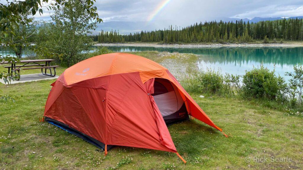Camp at Boya Lake