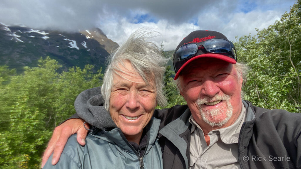 Di and I somewhere along the Stewart-Cassiar Hwy