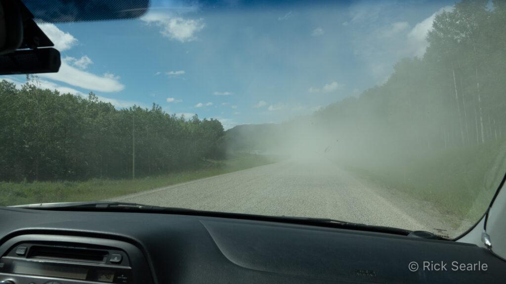 Dusty Section of Alaska Hwy