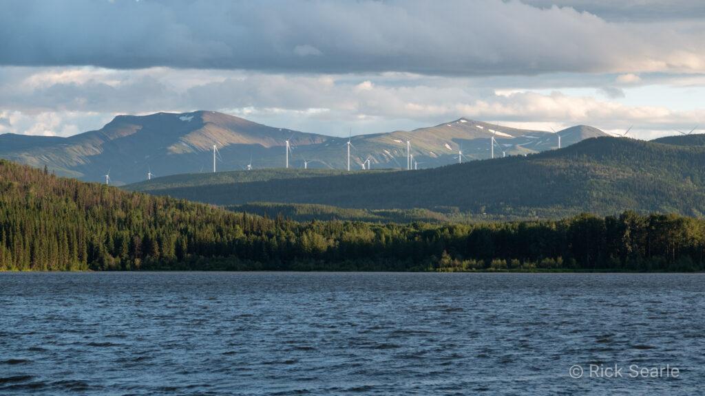 Gwillin Lake & Wind Turbines