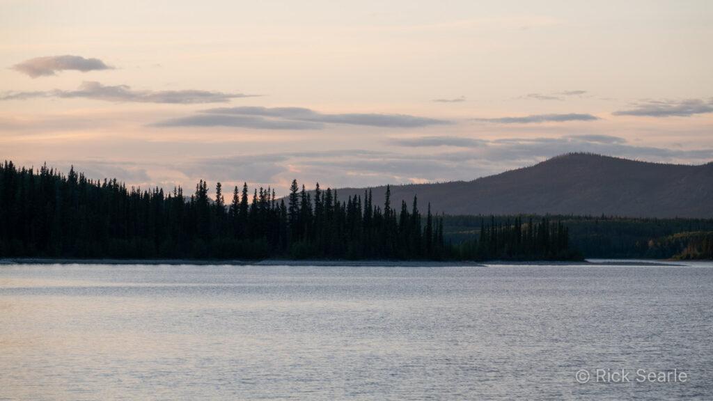 Pink Sunset over Boya Lake
