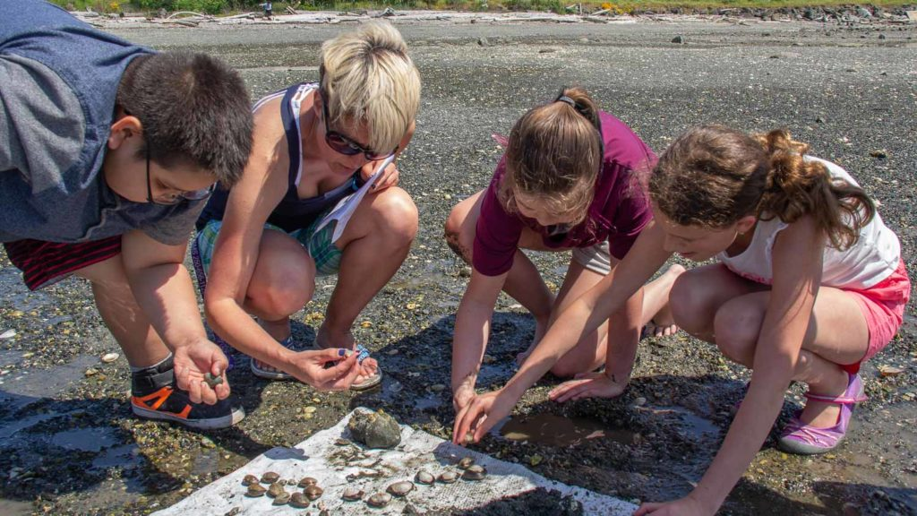 Teacher and Students with Clams