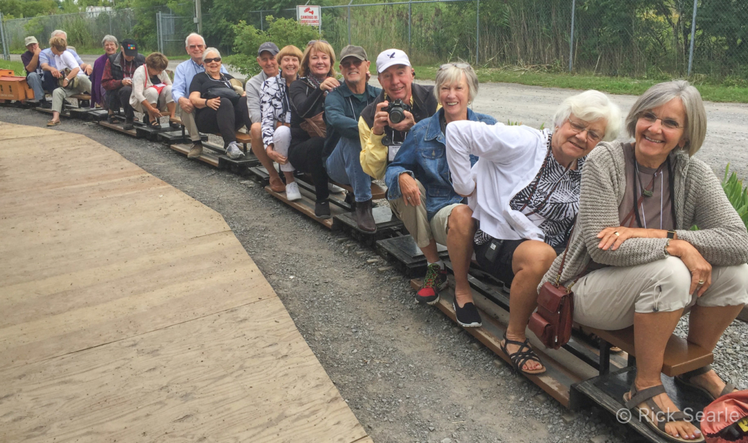 Guests Riding a Minature Train