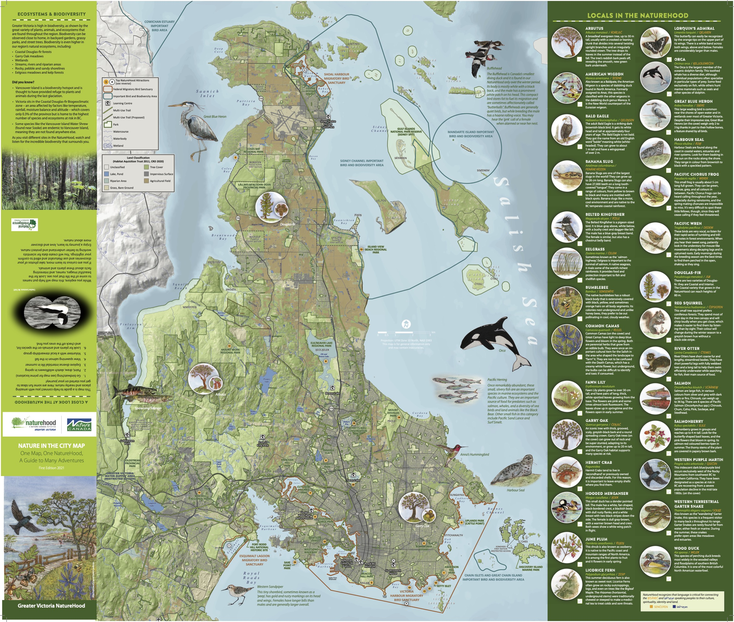Greater Victoria NatureHood Map Page 1